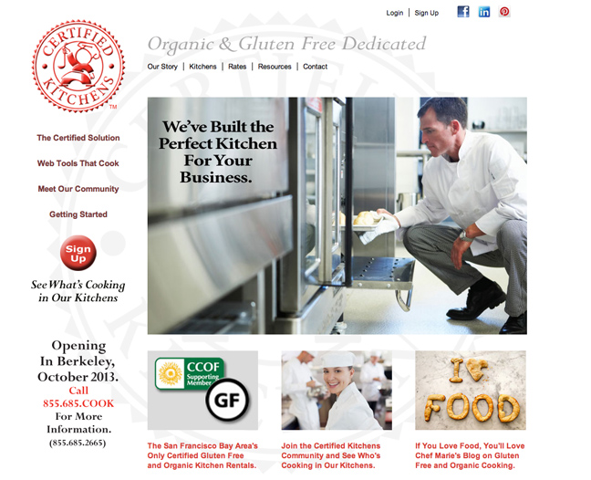 Certified Kitchens website design