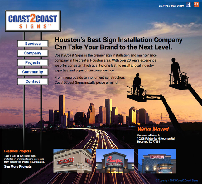 Coast2Coast website design